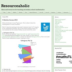 Resourceaholic: 5 Maths Gems #33