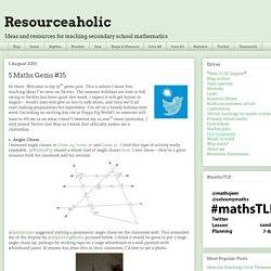 Resourceaholic: 5 Maths Gems #35