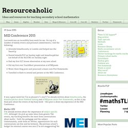 Resourceaholic: MEI Conference 2015