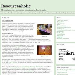 Resourceaholic: Enrichment