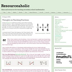 Resourceaholic: Thoughts on Teaching Fractions