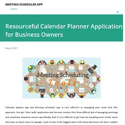 Resourceful Calendar Planner Application for Business Owners