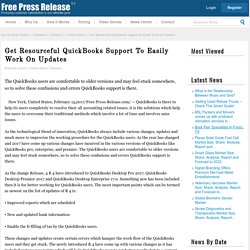Get Resourceful QuickBooks Support To Easily Work On Updates