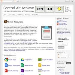 Control Alt Achieve: Resources