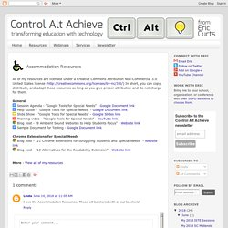 Control Alt Achieve: Resources Accommodations