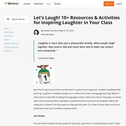 Let's Laugh! 10+ Resources & Activities for Inspiring Laughter in Your Class
