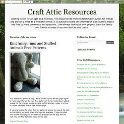 Knit Amigurumi and Stuffed Animals Free Patterns