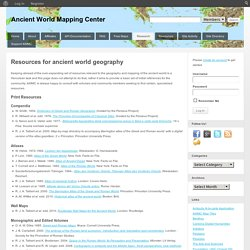 awmc - ancient world mapping center