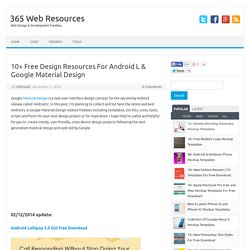 10+ Free Design Resources For Android L & Google Material Design