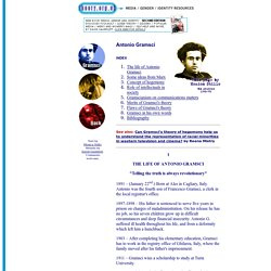 www.theory.org.uk Resources: Antonio Gramsci