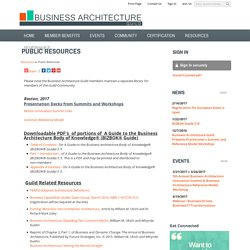 Public Resources - Business Architecture Guild