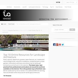 Top 10 Online Resources for Landscape Architecture