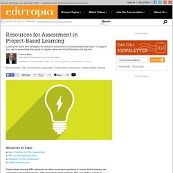Resources for Assessment in Project-Based Learning