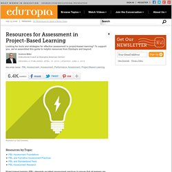 Day 2 - Resources for Assessment in Project-Based Learning