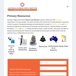 Primary Resources - Australia's Magna Carta Institute - Rule of Law Education