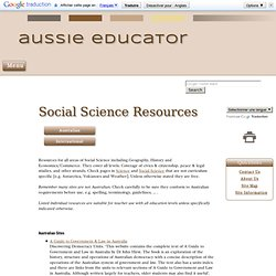 Social Science Resources