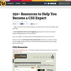 250+ Resources to Help You Become a CSS Expert