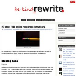 20 great FREE online resources for writers - bekindrewrite