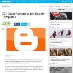30+ Great Resources for Blogger Templates