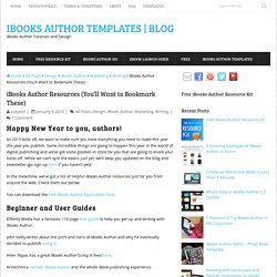List of iBooks Author Resources (You'll Want to Bookmark These)