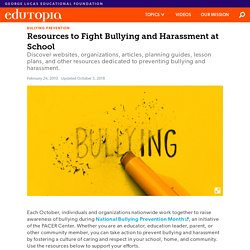 Resources to Fight Bullying and Harassment at School