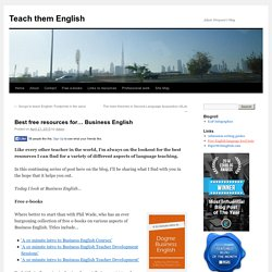 Best free resources for... Business English