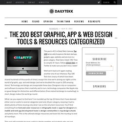The 200 Best Graphic, App & Web Design Tools & Resources (Categorized)