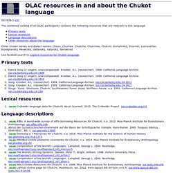 OLAC resources in and about the Chukot language