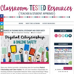 4 Resources in Teaching Digital Citizenship and Cyber Safety