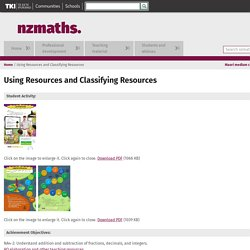 Using Resources and Classifying Resources