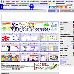 Editable Primary Teaching Resources - Flash cards, labels, posters & classroom display resources