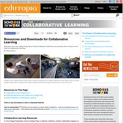 Resources and Downloads for Collaborative Learning