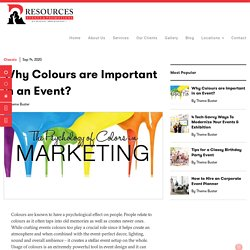 Resources Groups: Why Colours are Important in an Event?