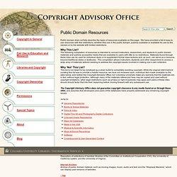 Public Domain Resources