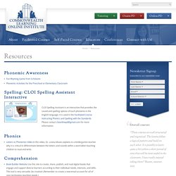 Resources - Commonwealth Learning Online Institute
