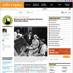 Resources for Computer Science Education Week