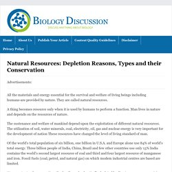 Natural Resources: Depletion Reasons, Types and their Conservation