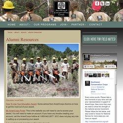 Alumni Resources - Southwest Conservation Corps
