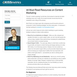 44 Must Read Resources on Content Marketing