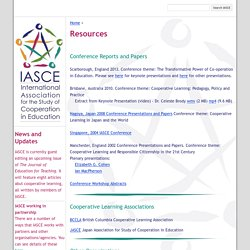 Resources - IASCE - Cooperative Learning