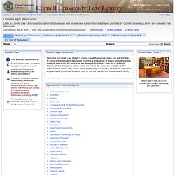 Law Library - Online Legal Resources