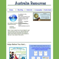 Lesson plans, resources, and ideas for countries in Australia and Oceana.