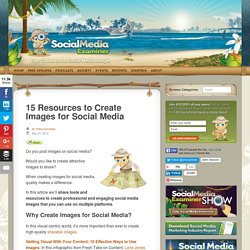 15 Resources to Create Images for Social Media : Social Media Examiner