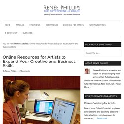 Online Resources for Artists to Expand Your Creative and Business Skills