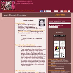 Noam Chomsky Resources :: Critical Thinkers