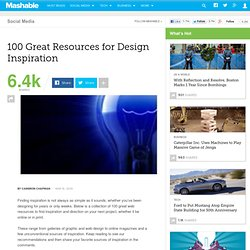 100 Great Resources for Design Inspiration