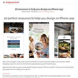 20 resources to help you design an iPhone app » Design You Trust. Occupy Design.