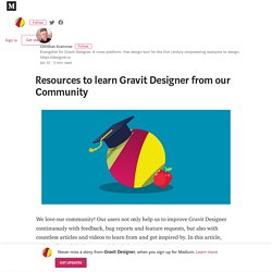 Resources to learn Gravit Designer from our Community
