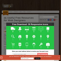 25 Useful Free Resources for Web Designers