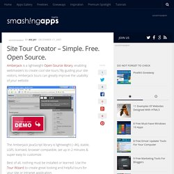 Site Tour Creator – Simple. Free. Open Source.